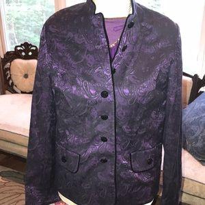 Jacket purple and black